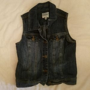 Cherokee sleeveless denim jacket, girls size XL